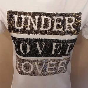 Cute Sequined Under Cover Lover Top T Shirt